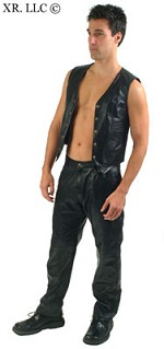 Mens Leather Vest- Large