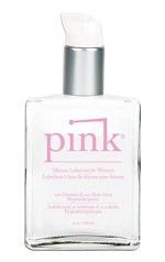 Pink Silicone Lubricant4 oz. Glass Bottle