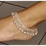 Silver Tone Anklet with Bells