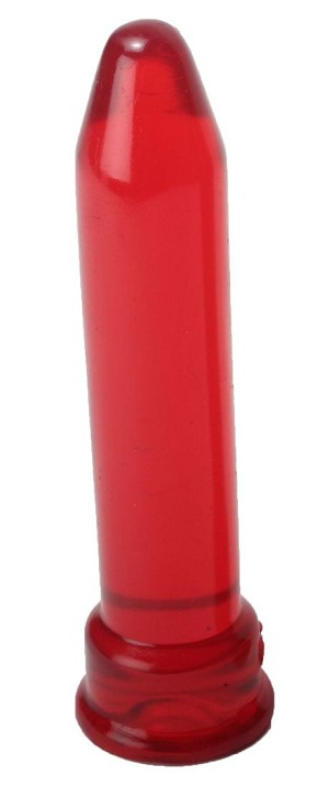 Smooth Tool Dildo (Red)