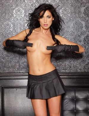 Vinyl Naughty Girl Skirt