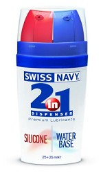 2-in-1 Dispenser: Silicone and Water-Based Lube