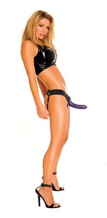 Fetish Fantasy For Him or Her Hollow Strap-On - Purple