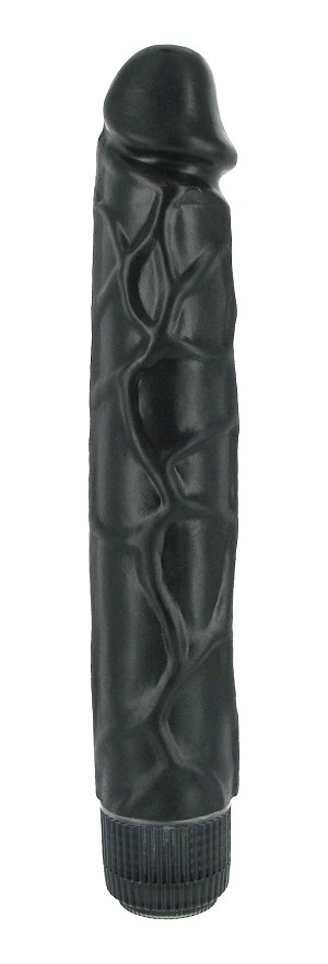 The Tower 9.5 Inch Vibrating Dildo - Black