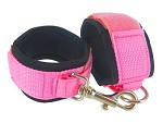 Deluxe Pink Double Binding Cuffs