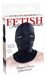 Fetish Fantasy Zipper Face Spandex Hood with Mouth and Eye Holes