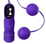 5 Function Purple Vibrating Pleasure Beads