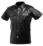 Lambskin Leather Police Shirt (Medium)