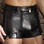 Strict Leather Chastity Shorts- 29 inch waist