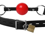 Classic Locking Silicone Ball Gag (Red)