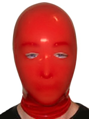 Rubber Slave Hood - Red