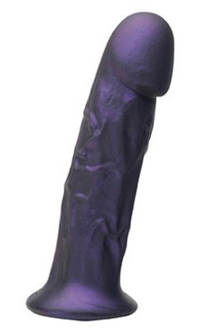 Goliath Silicone Vibrating Dildo (Purple)