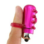 Finger Sleeve with Vibrating Bullet